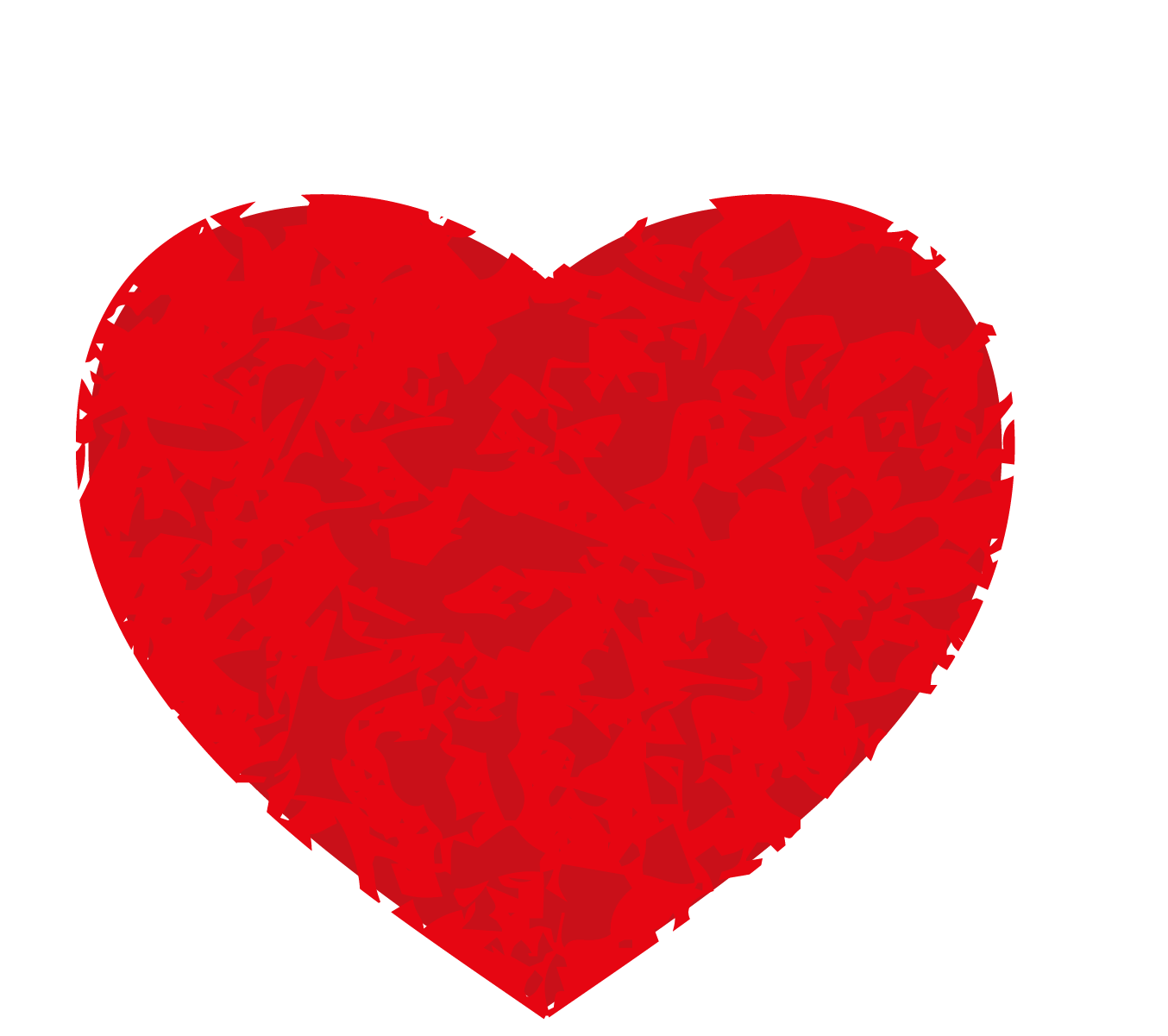 black and white Valentine vector love. S day red heart
