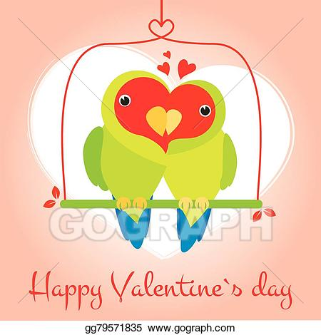 picture free Eps lovely and cute. Valentine vector lovebird