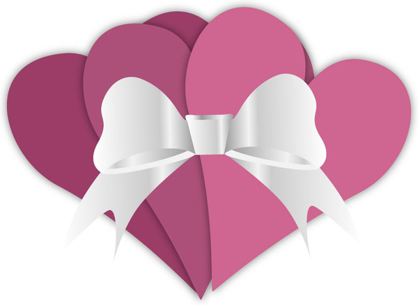 banner black and white stock Valentines hearts free in. Valentine vector ribbon