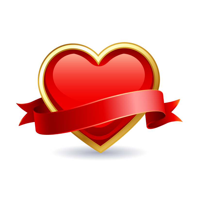 image free download Valentine vector ribbon. Valentines day heart february