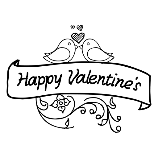 jpg library library Valentines day ribbon transparent. Valentine vector vintage