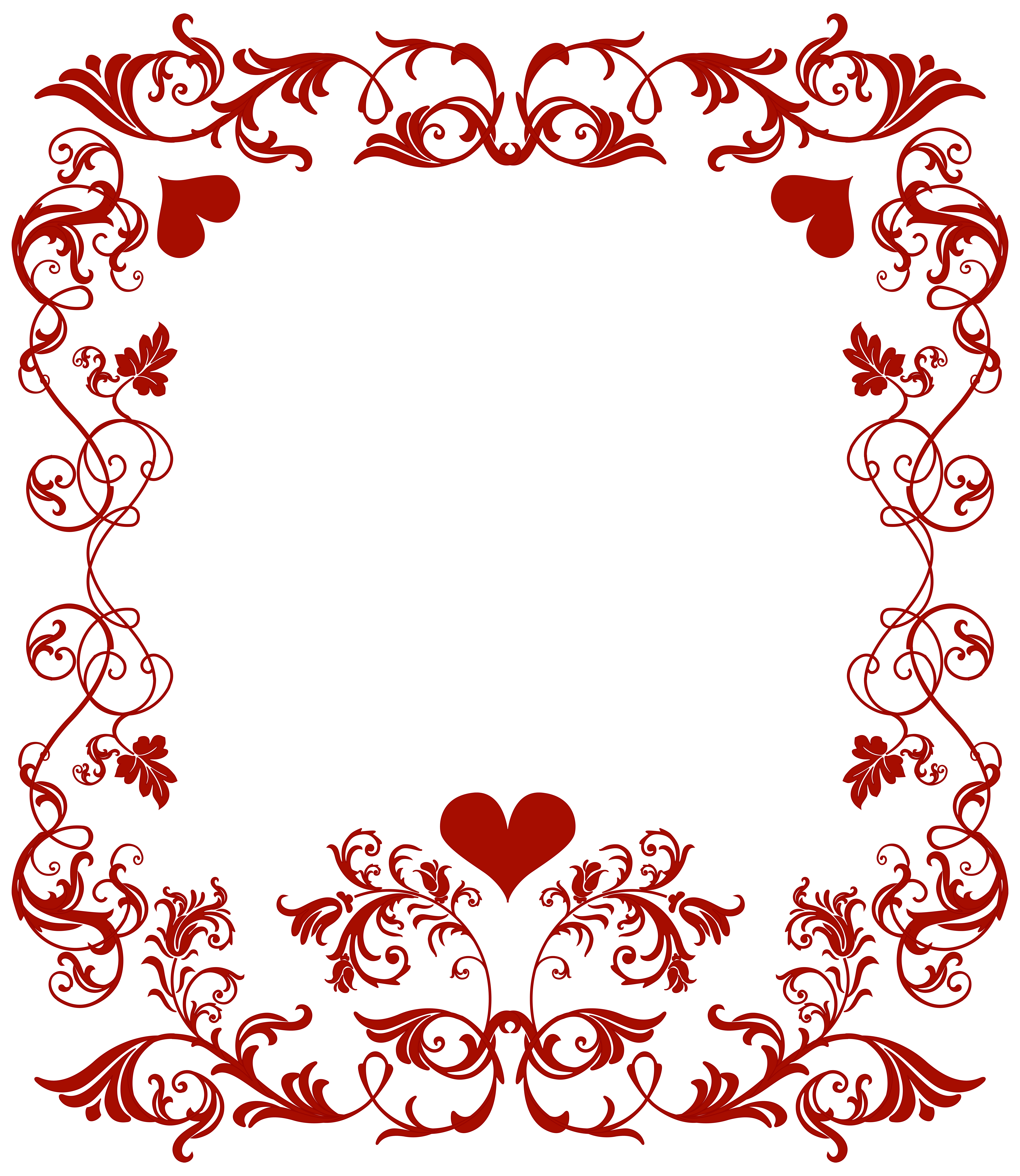 png freeuse Valentines border clipart. Valentine s day decorative