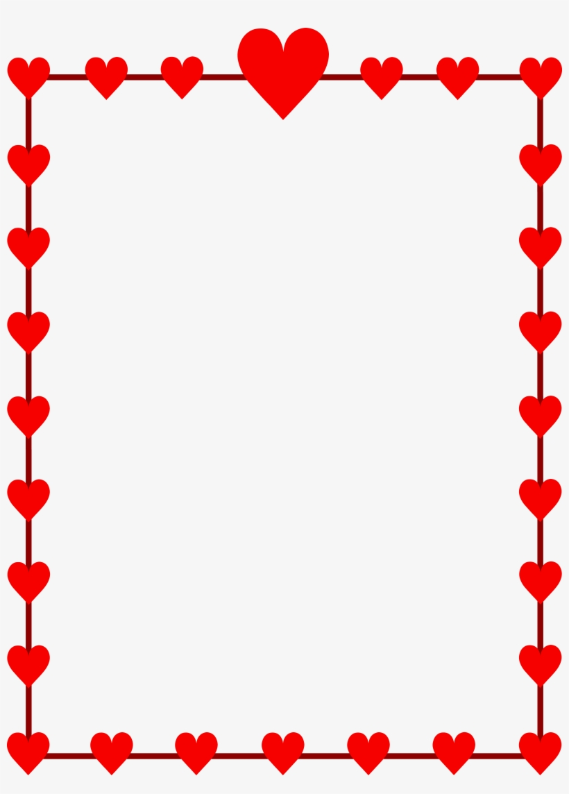 vector royalty free Valentine clip art day. Valentines border clipart