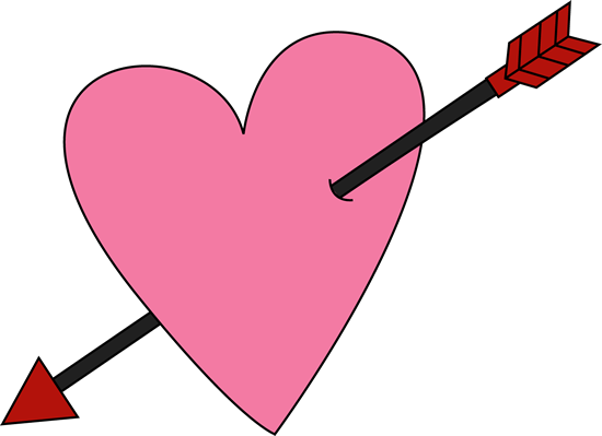 vector free stock Arrows with hearts clipart. Valentines day pictures of.