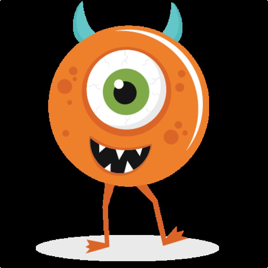 svg black and white stock Cute animal hatenylo com. Valentine's clipart orange monster