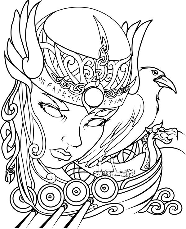 png royalty free download Drawings of designs sketch. Valkyrie drawing face