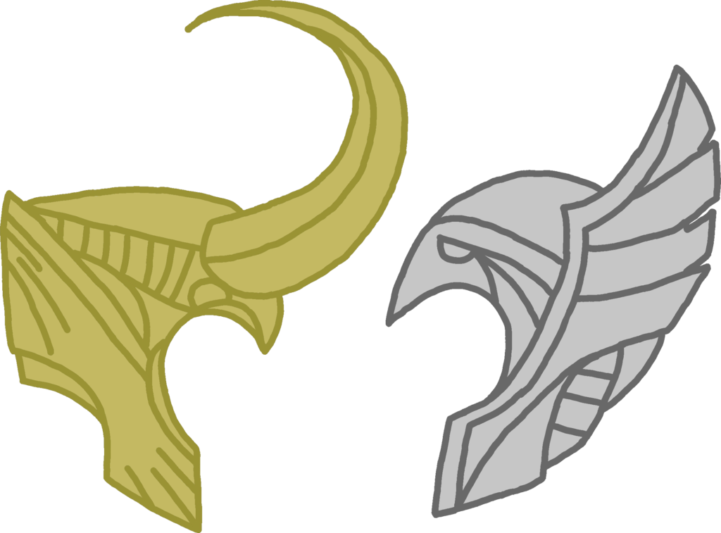 jpg black and white download Thor and loki by. Valkyrie drawing helmet