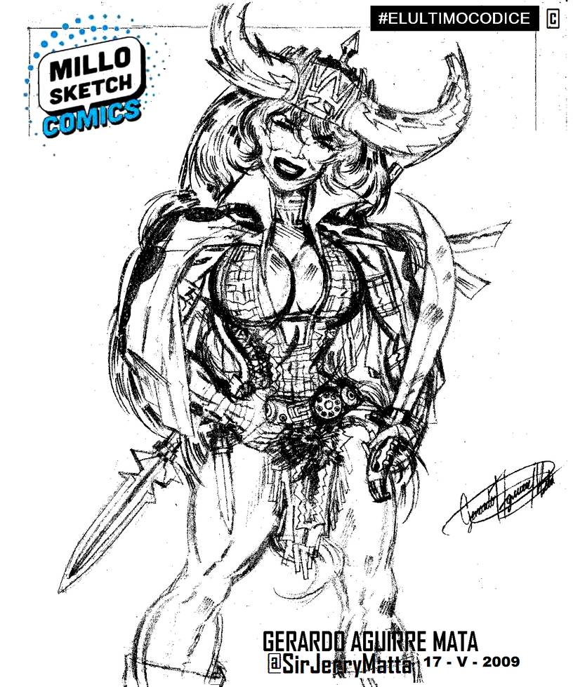 vector black and white stock Sketch character design by. Valkyrie drawing princess