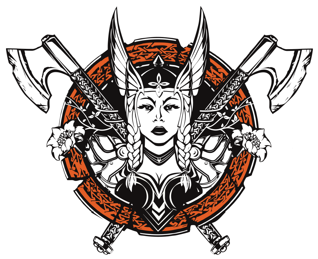 transparent Valkyrie drawing profile. Transparent background adventures of