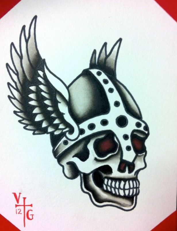 png library stock Valkyrie drawing skull. Traditional viking old school