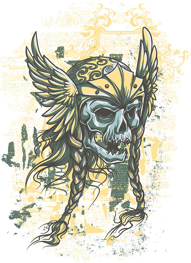 clip art freeuse library Valkyrie drawing skull. Viking