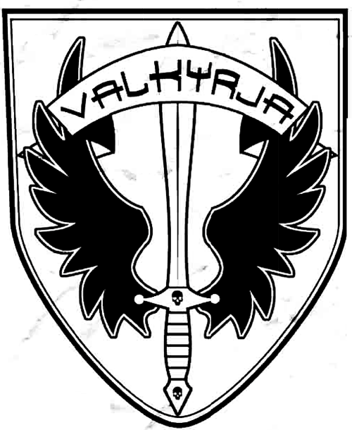 jpg black and white stock Image mark png white. Valkyrie drawing symbol
