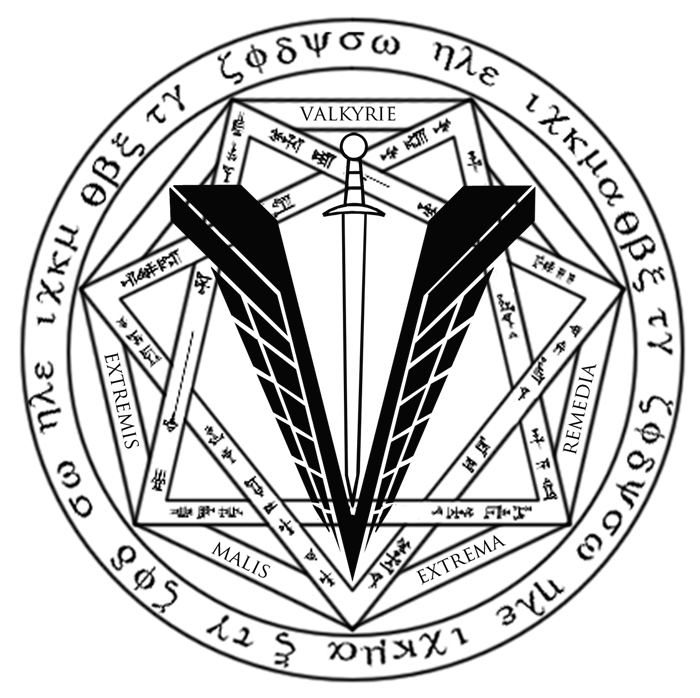 jpg transparent stock  occult deep for. Valkyrie drawing symbol