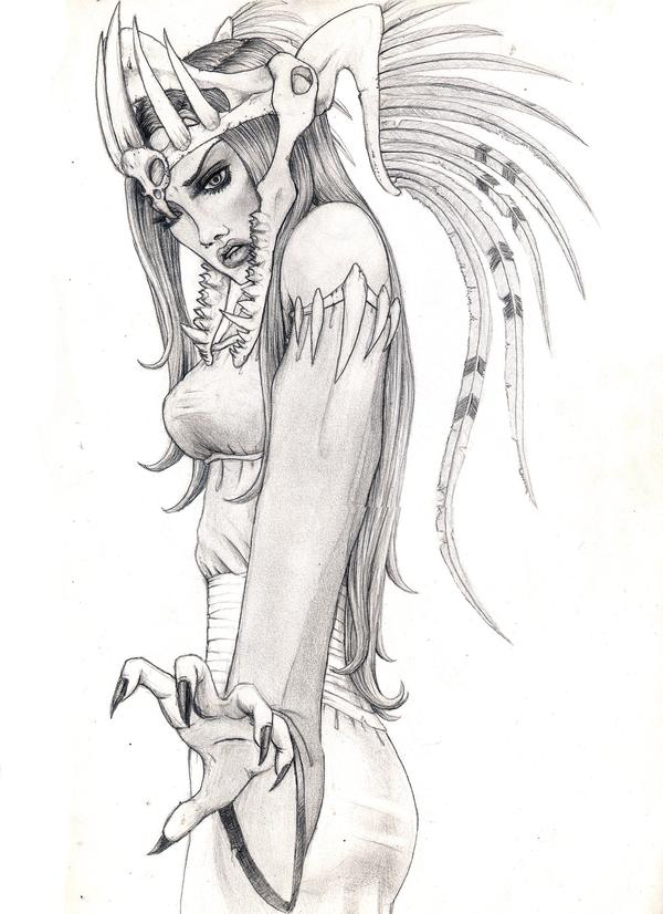 picture free Dark by fimbulwinter wolf. Valkyrie drawing traditional