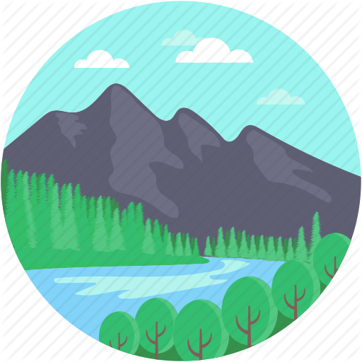 svg library Valley clipart blue river. Landscape by creative stall