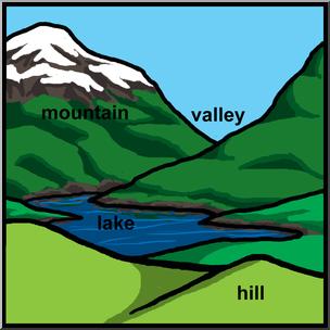 clip art stock Valley clipart landform clipart. Clip art landforms color