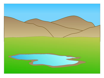 graphic free Valley clipart landform clipart. Clip art library