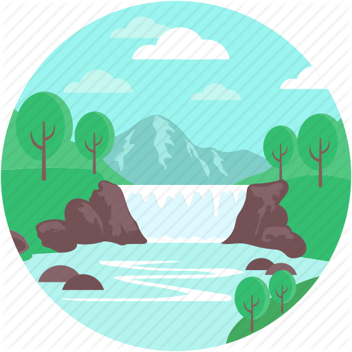 clipart transparent Valley clipart landform clipart. Landscape by creative stall
