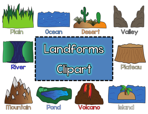 clipart free stock Valley clipart physical geography. Landform transparent png free.