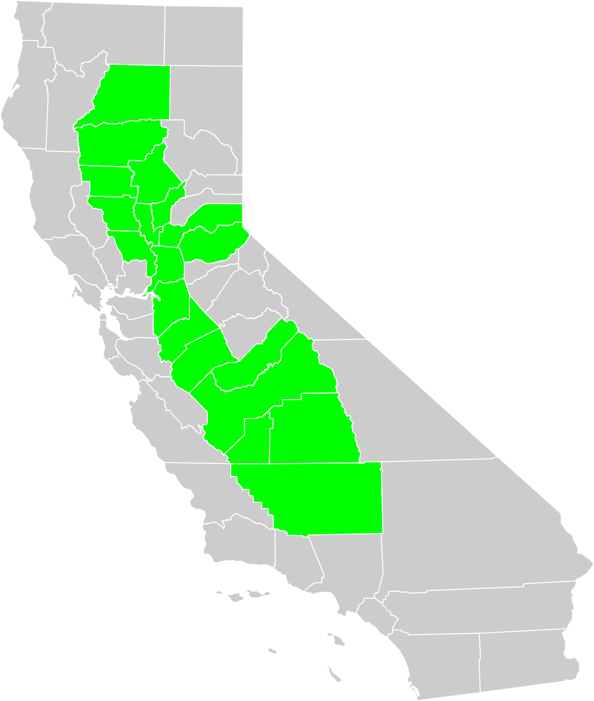 picture stock California s natural regions. Valley clipart physical geography.