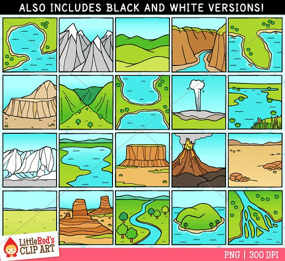 clipart library stock A collection of clip. Valley clipart plateau landform.