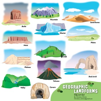 picture royalty free Valley clipart plateau landform. Geographic features and landforms.