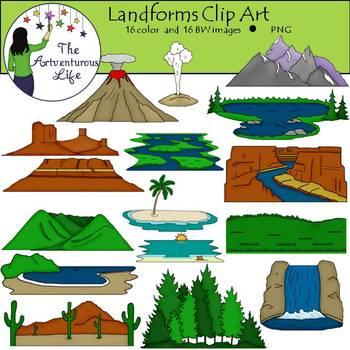 transparent Landforms worksheets teaching resources. Valley clipart plateau landform.