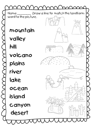 banner transparent library This landforms worksheets allows. Valley clipart plateau landform