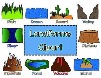 transparent Valley clipart plateau landform. Landforms worksheets teaching resources.