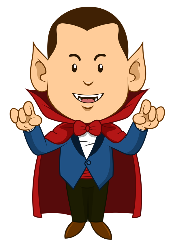 png free library Dracula this cartoon clip. Yard clipart cute cottage