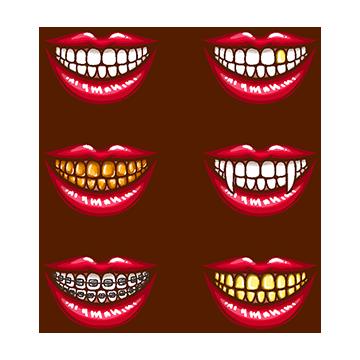 banner royalty free Vampire fangs png vectors. Vampir clipart animal fang