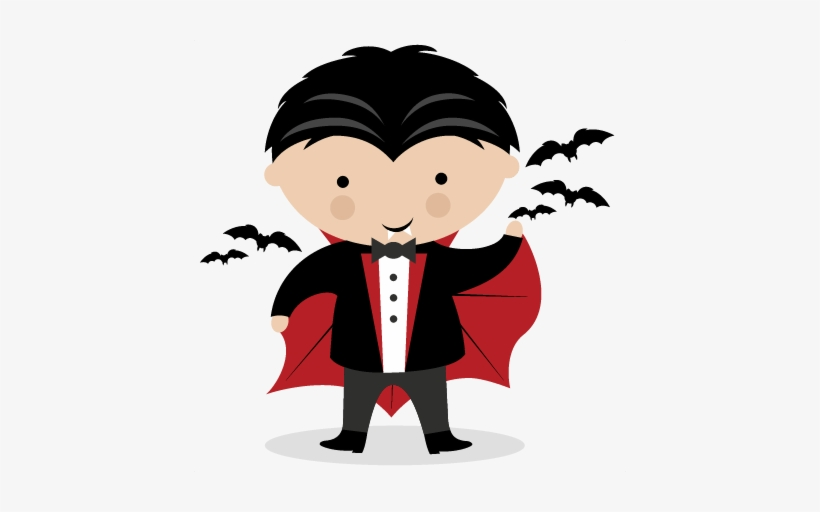 vector royalty free Vampire svg scrapbook title. Vampir clipart cute