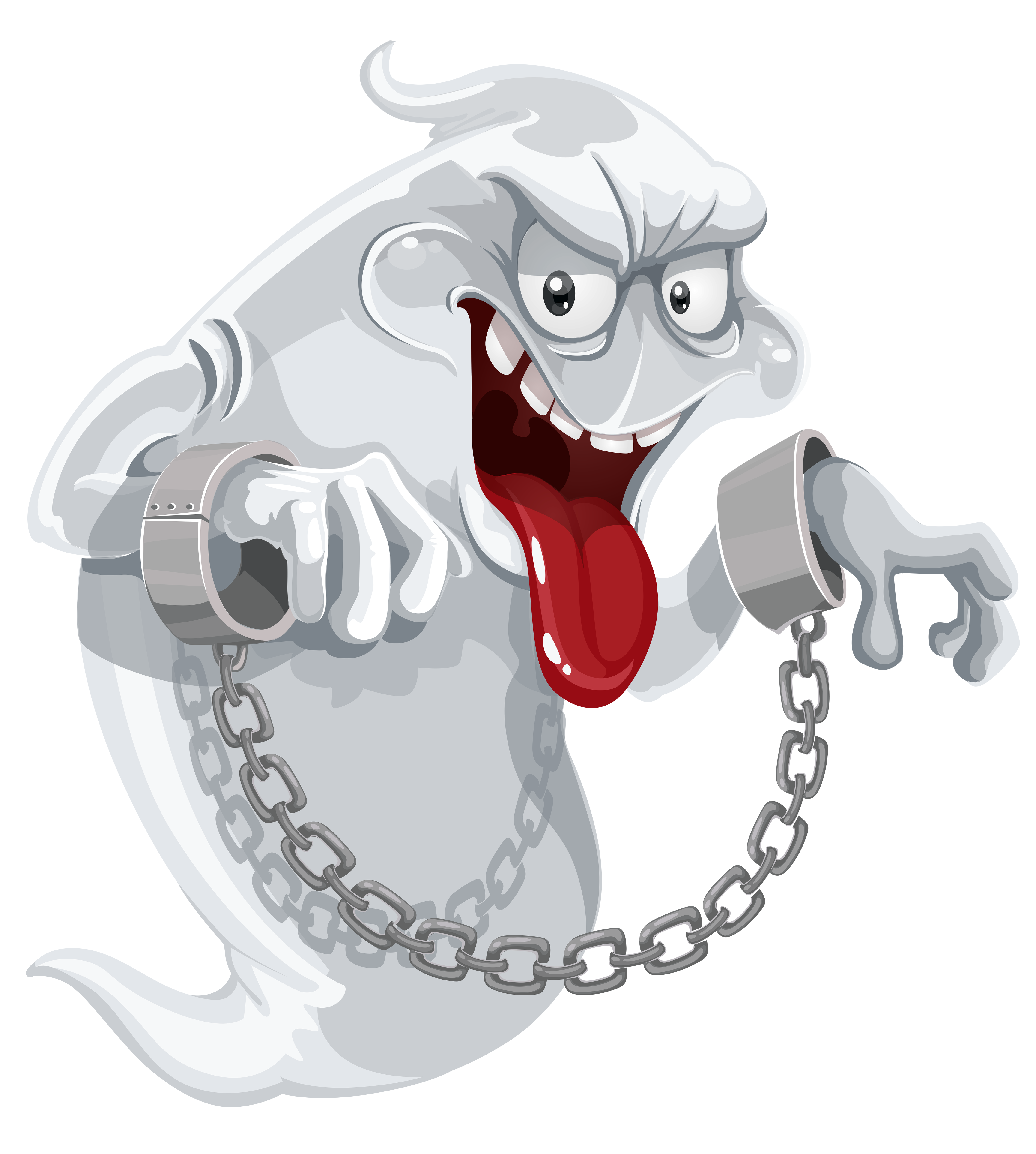 clipart Evil ghost with chains. Vampir clipart money