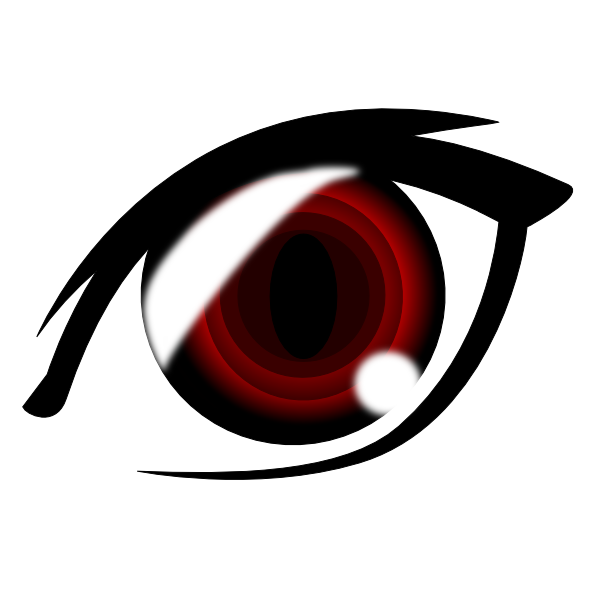 royalty free Vampire anime eye clip. Vampir clipart vector