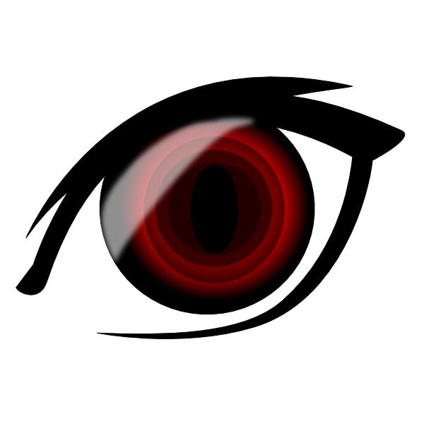 clip freeuse download Vampir clipart vector. Vampire anime eye clip