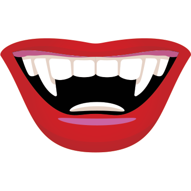 vector freeuse stock Drawing tooth vampire. Vampires png images free