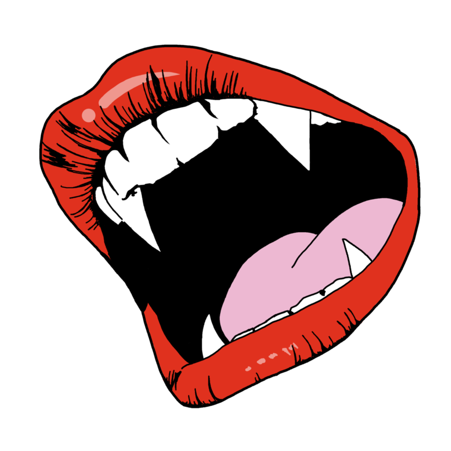 clipart library library Vampire Fangs by FoxyBlues on DeviantArt