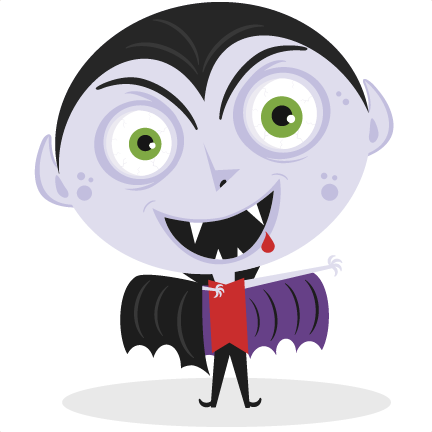 clipart royalty free library Svg cut file for. Vampire transparent cartoon halloween