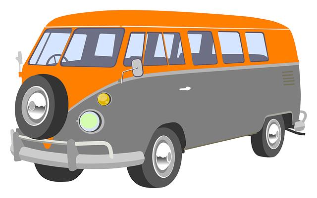 jpg stock Free retro camper clip. Van clipart