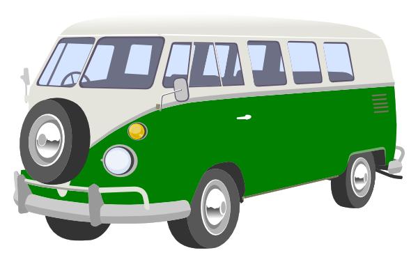 graphic transparent Green clip art at. Van clipart