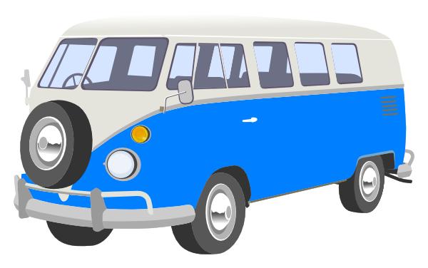 vector royalty free download Van clipart. Blue camper clip art