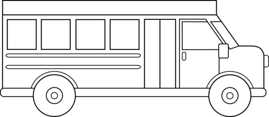 picture freeuse download vector bus outline #107538784