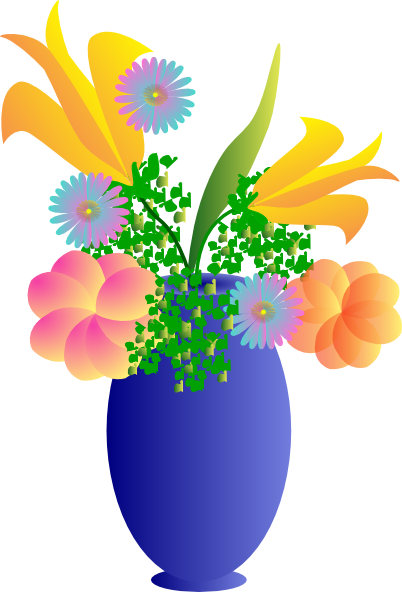 image free A of flowers clip. Vase clipart