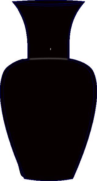 clip free Black clip at clker. Vase clipart line art