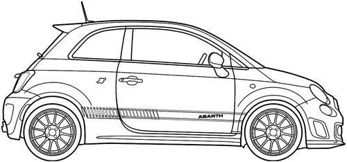 image transparent stock Vector 500 abarth. Blueprints cars fiat