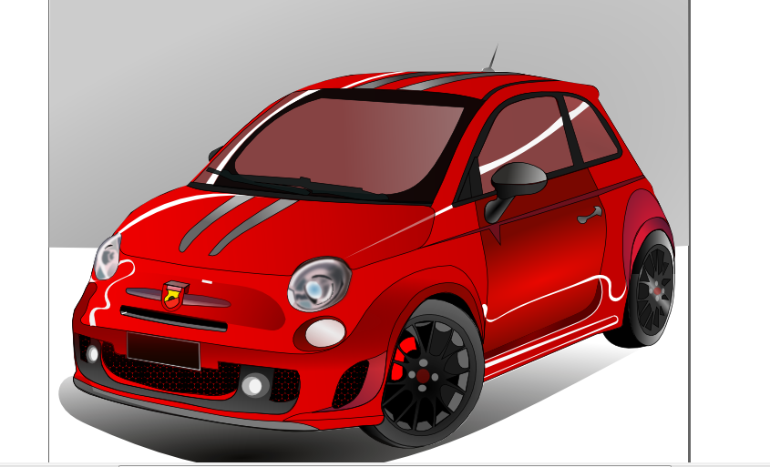 vector royalty free Fiat by rovillenpergun on. Vector 500 abarth