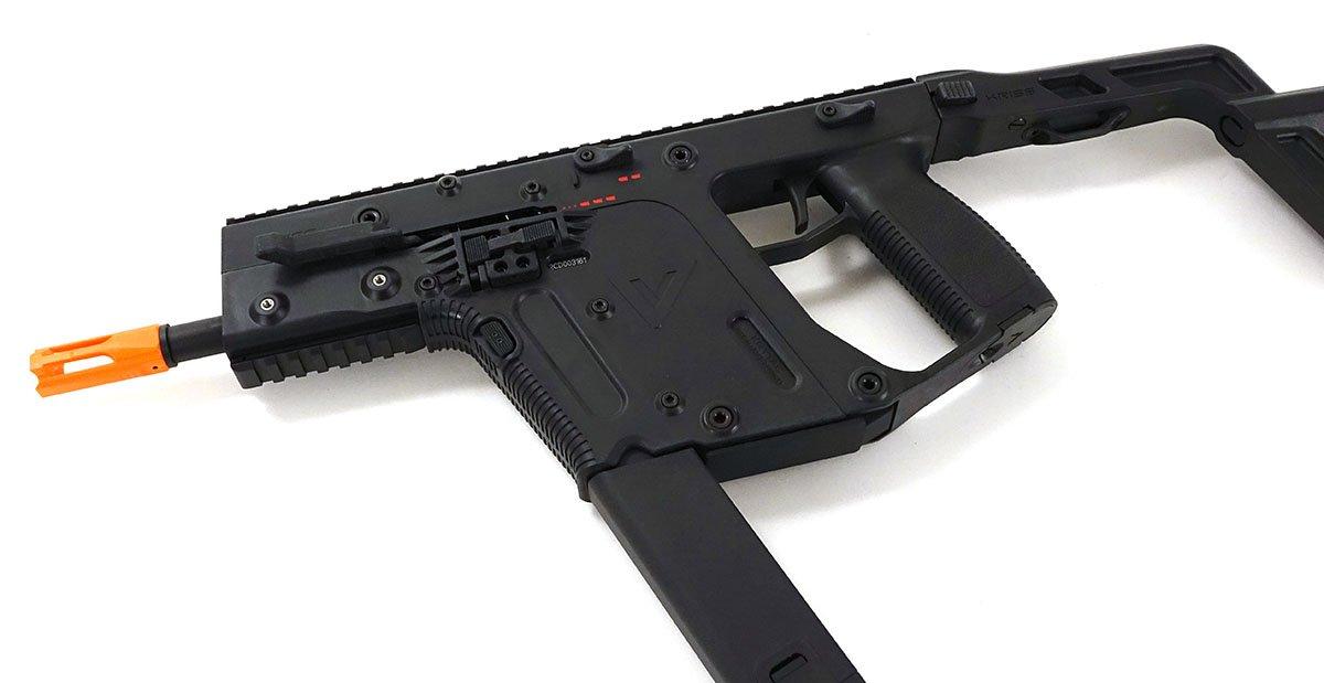 clip art freeuse library Krytac kriss black . Vector aeg pistol