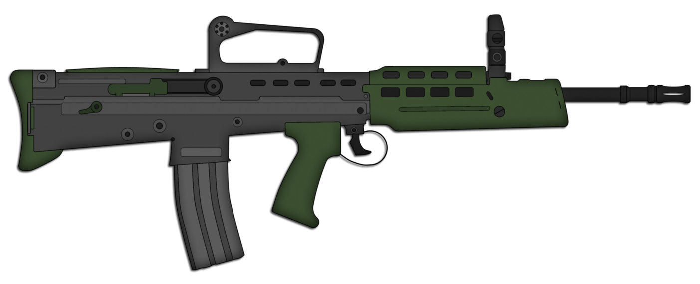 clip library L a assault rifle. Vector carbine collapsible stock