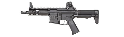 graphic black and white Kriss trident mkii pdw. Vector carbine krytac