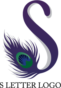 picture transparent download S Peacock Letter Logo Vector
